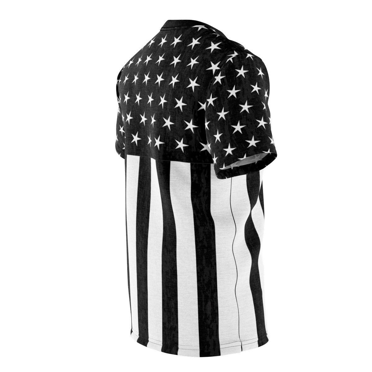Black And White Flag Tee - Melanin Apparel