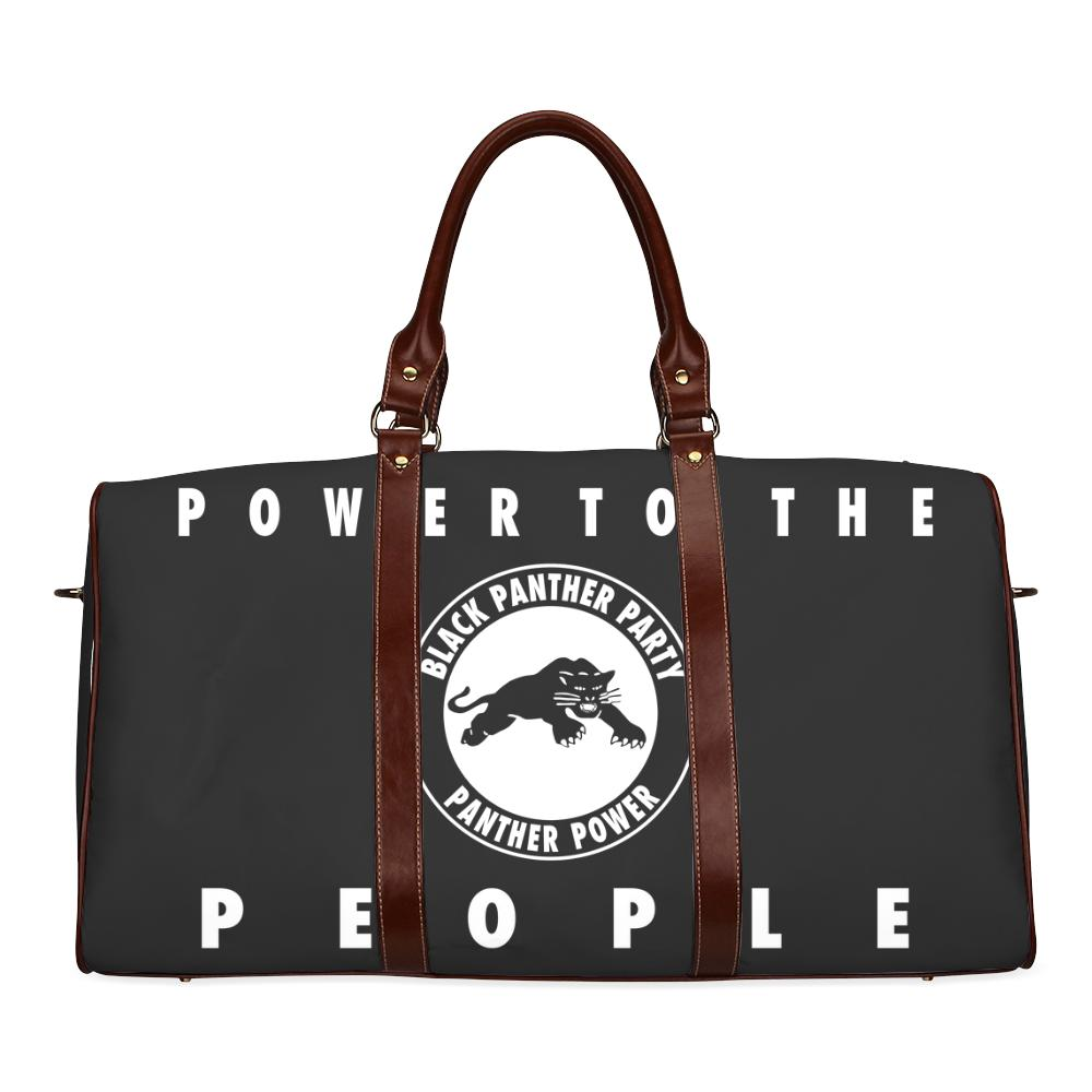 Black Panther Party Large Waterproof Travel Bag - Melanin Apparel