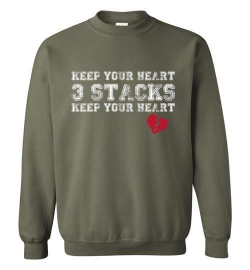 Keep Your Heart 3 Stacks Sweatshirt - Melanin Apparel