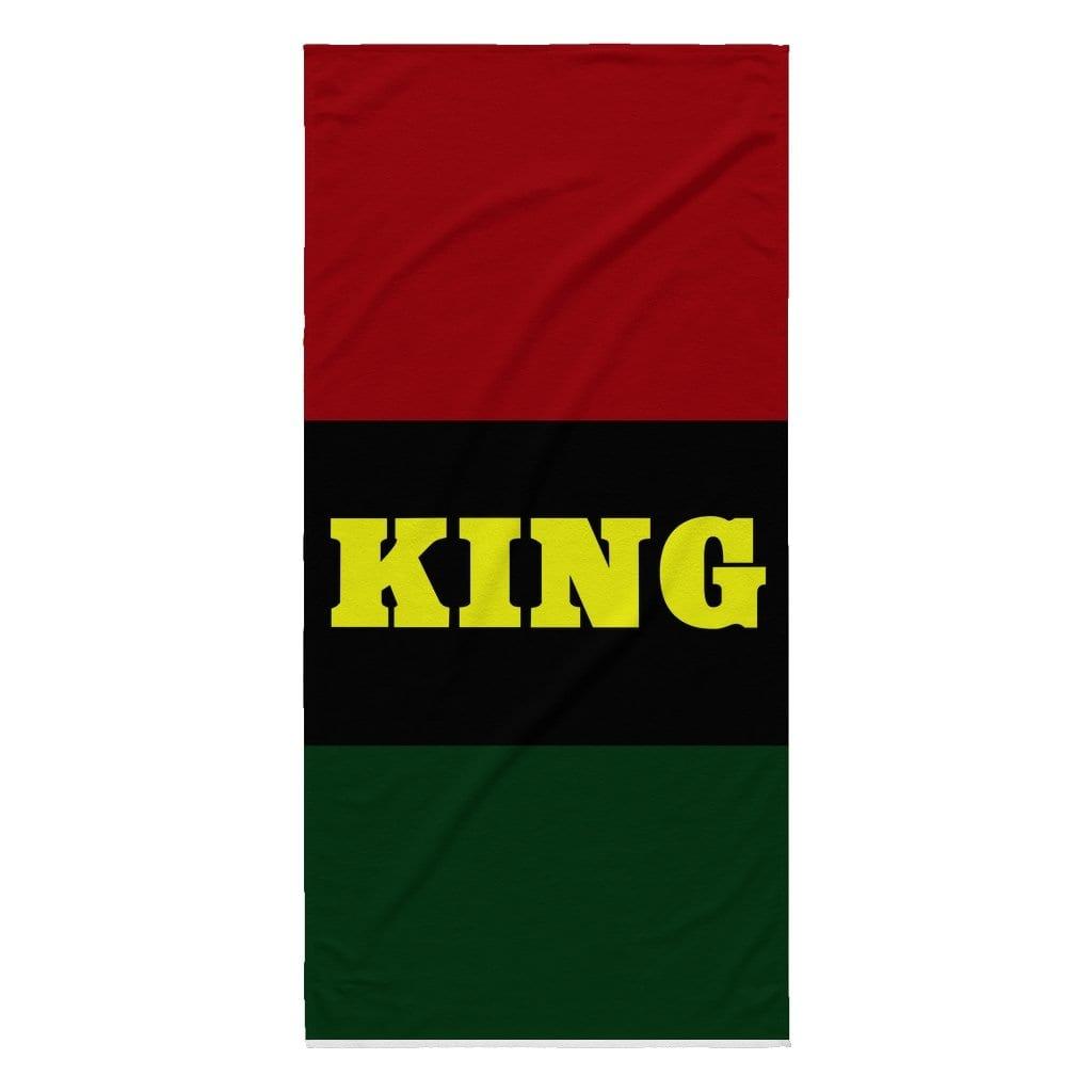 KING BEACH TOWEL - Melanin Apparel