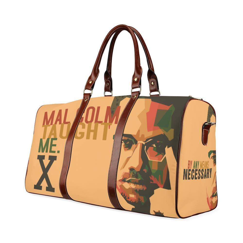 Malcolm Taught Me Large Waterproof Travel Bag - Melanin Apparel