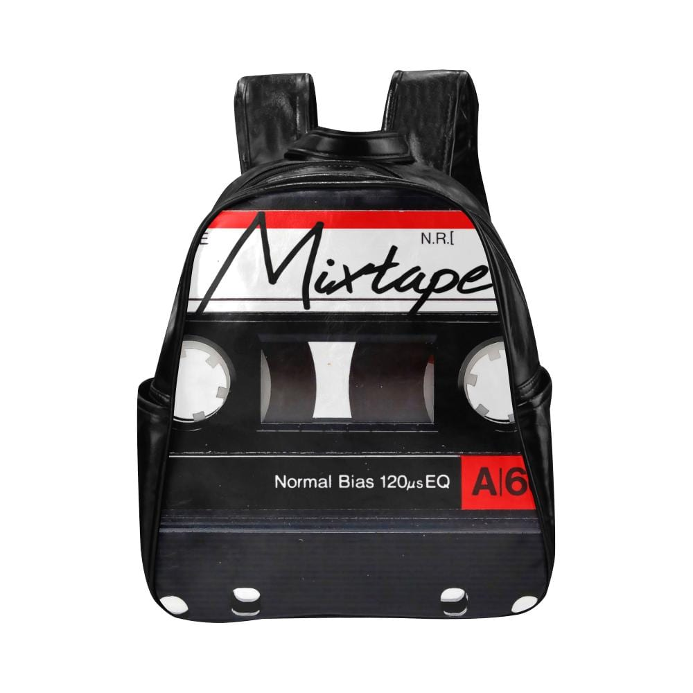 Mixtape Leather Backpack Multi-Pockets Backpack - Melanin Apparel