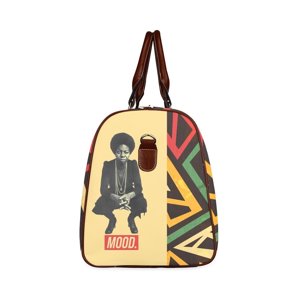 Nina Simone Mood Large Waterproof Travel Bag - Melanin Apparel