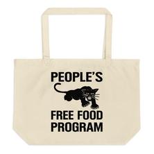 People's Free Food Black Panther Party Large organic tote bag - Melanin Apparel