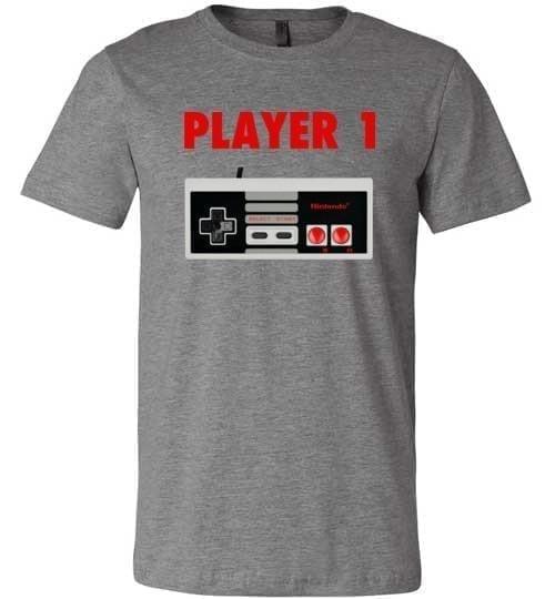 Player One Classic Nintendo Retro Tee - Melanin Apparel