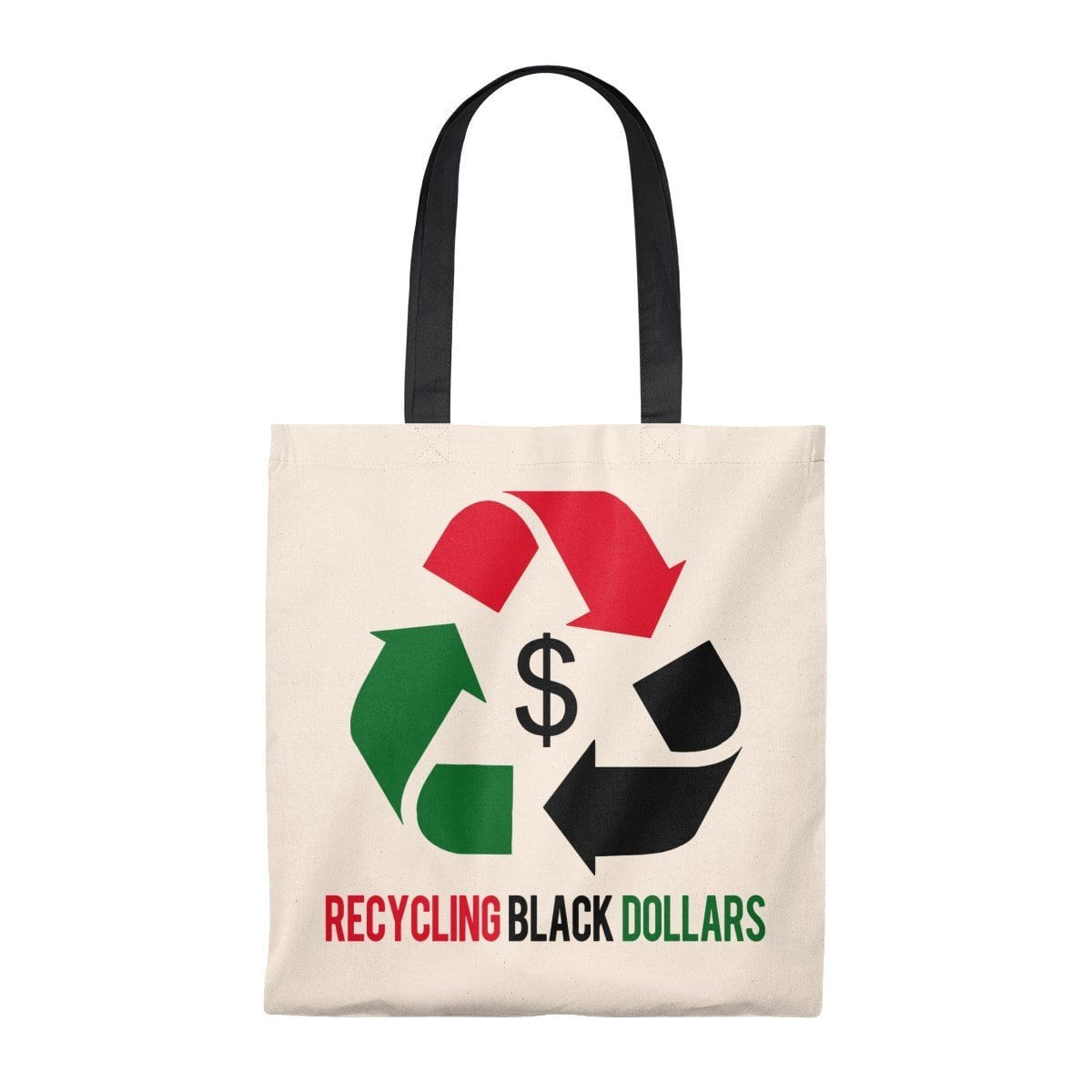 RECYCLING BLACK DOLLARS TOTE BAG - Melanin Apparel