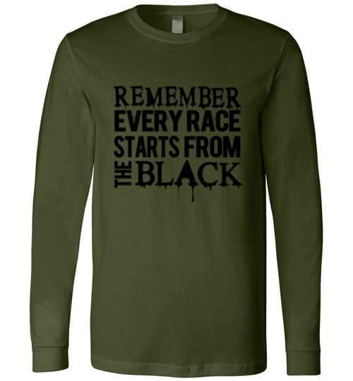 Remember Every Race Starts from Black - Melanin Apparel